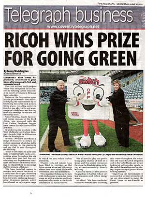 Ricoh newspaper feature