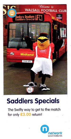 Swifty promoting football match bus travel